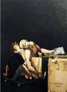 I love Her (Jacques-Louis David and Me), 250 x 180cm, Acrylic on Canvas, 2009