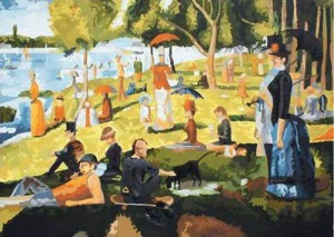 My Greenroom (George Seurat and Me), 250 x 180cm,Acrylic on Canvas, 2009