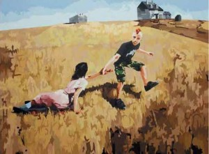 Kene Tak Tarik (Andrew Wyeth and Me), 200 x 150cm, Acrylic and Canvas, 2009