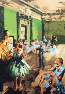 Cuma Kamu (Edgar Degas and Me), 200 x 140cm, Acrylic on Canvas, 2009