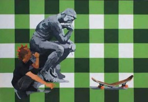 Sori Aku Patain Papanmu (Auguste Rodin and Me), 200 x 140cm, Acrylic on Canvas, 2009