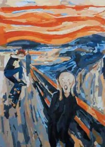 Oh My Gosh (Edvard Munch and Me), 200 x 140cm, Acrylici on Canvas, 2009