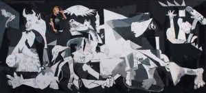 Ada Juga Skaternya (Pablo Picasso and Me), 270 x 120cm, Acrylic on Canvas, 2009