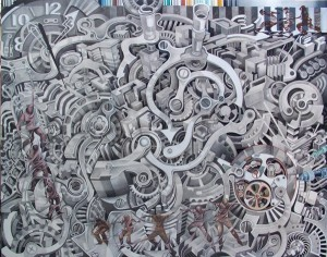 03. putaran waktu,mixed media,160x200cm,2012 A