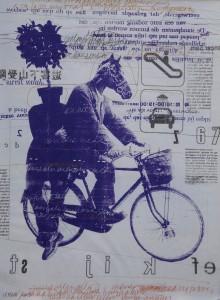 SELAMATKAN BUMI KITA, mix media on lichdruck paper, 90 x 120 cm, irma 2013