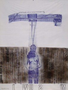 UNTITLED #02, mix media on lichdruck paper, 90 x 120 cm, irman 2013