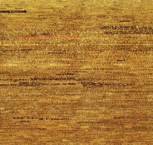 THE WORLD OF WORDS .200x200cm, permanent pen, gold paint oncanvas 2012