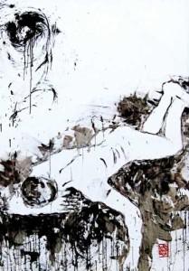 Bambang Wibawarta,Spectral-evidence,170 x 120 cm,oil on canvas,2012
