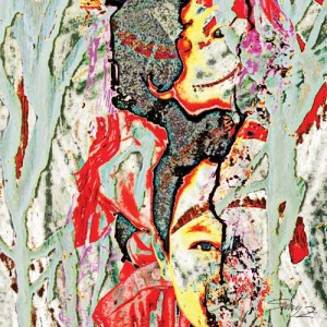 samy zimah,sebelah mata,120 x 120 cm,acrylic on canvas,2011