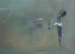 TERSUDUT  200 x 140 cm  Oil on canvas  2013