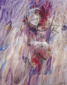 Violinist #4 • 200 x 150 cm • acrylic on canvas • 2012