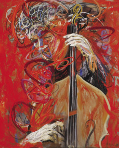cellist • 175 x 135 cm • acrylic on canvas • 2012