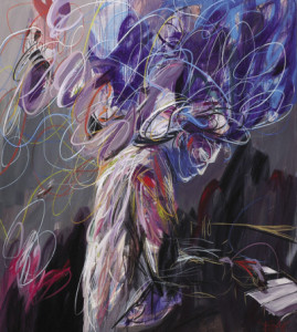 pianist #1 • 200 x 200 cm • acrylic and pastel on canvas • 2012