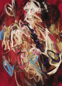 saxophonist #02 • 190 x 140 cm • acrylic on canvas • 2012