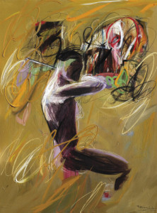 violinist #2•175 x 135 cm•acrylic on canvas•2012