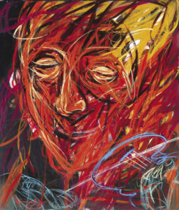 violinist #3 • 160 x 140 cm • acrylic on canvas • 2012