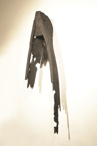 Being Unbeing. Burned wood. 116 x 293 x 54 cm. 2014