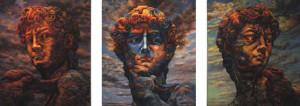 David  195x170cm (tryptich)  Oil on canvas 2010