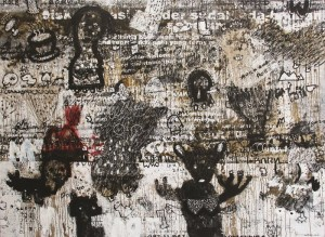 art not something, but is about something 2014, mixed  media on canvas 150cmx200cm