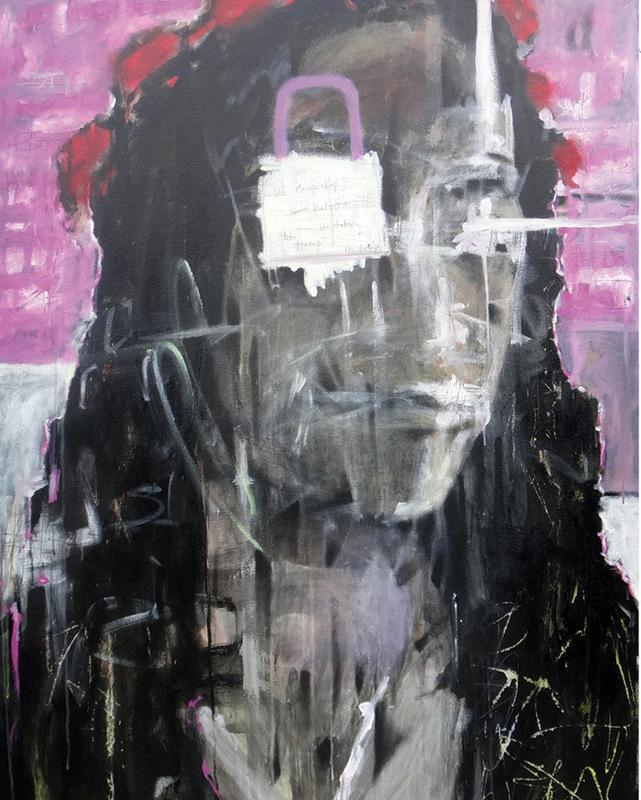 Ini mengendap saat kutangkap itu tatap • 140 x 100cm •  Mix media on canvas •  2015