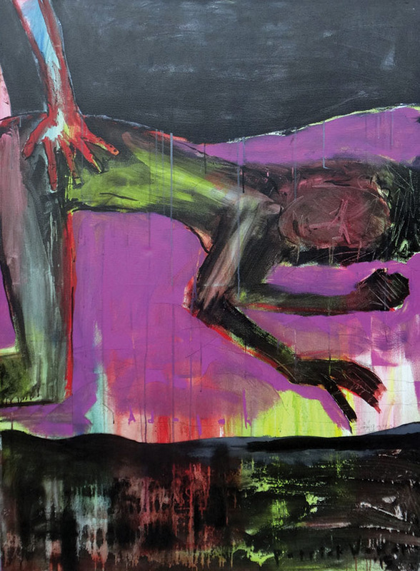 adalah bagaimana agar kita senggama, bukan bagaimana agar kita seagama • 140 x 100cm •  Mix media on canvas •  2015