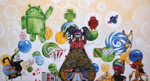 Android rules, 2015, 60x110cm, acrylic on canvas