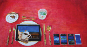 Android rules2, 2015, 60x110cm, acrylic on canvas