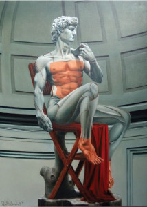 King David • 100 x 140cm • Oil on canvas • 2014