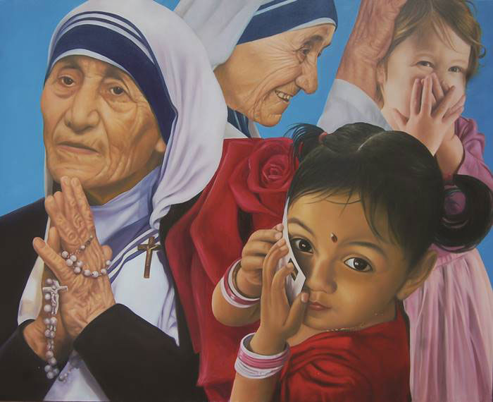 Nana Tedja, The Blessing Tay,  oil on canvas, 150x170 cm. 2016